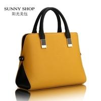 2015 New Spring Colorfull Shell Casual Handbag Brief Women Business Shoulder Cross Body Slim Female Bags