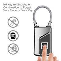 L1 Fingerprint Smart Padlock Low Power Waterproof Indoor Outdoor Security Digital Lock WIF66
