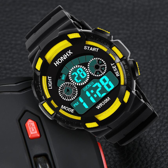 Fashion Children Boy Digital Watch LED Sport Watches Kids Silicone Strap Alarm Date Time Military Wrist Watch for Kid Clock