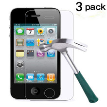 3 Pack Ultra thin 0.33mm HD Clear 9H Tempered Glass Screen Protector For iPhone 4/4S стоимость