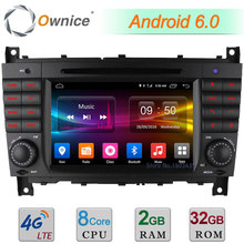 7″ Octa Core 2GB RAM 4G Android 6.0 Car DVD Player For Benz C Class W203 C180 C200 C220 C230 C240 C250 C270 C280 C300 C350 C32