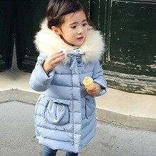 2016 осень и зима девушки пальто длинный толстый теплая куртка с hat воротник