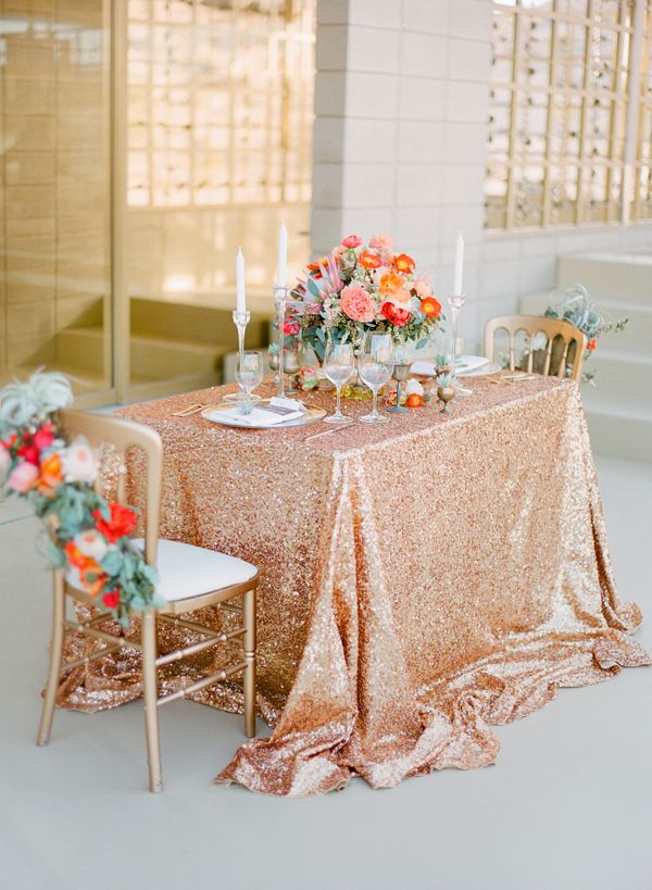Aliexpress Rectangle Rose Gold Glitter Sequin Tablecloth 90x156inch Embroidered Table Cloth Overlay For Wedding Decoration From