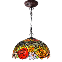 Tiffany Living Room Pendant Light Garden Study Room Dining Room Pendant Lamp Coffee Shop Exhibition Hall