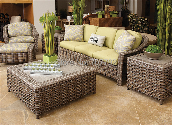 Online 2017 Hot Indoor Poly Ratan Furniture Collected Sofa Set Aliexpress Mobile