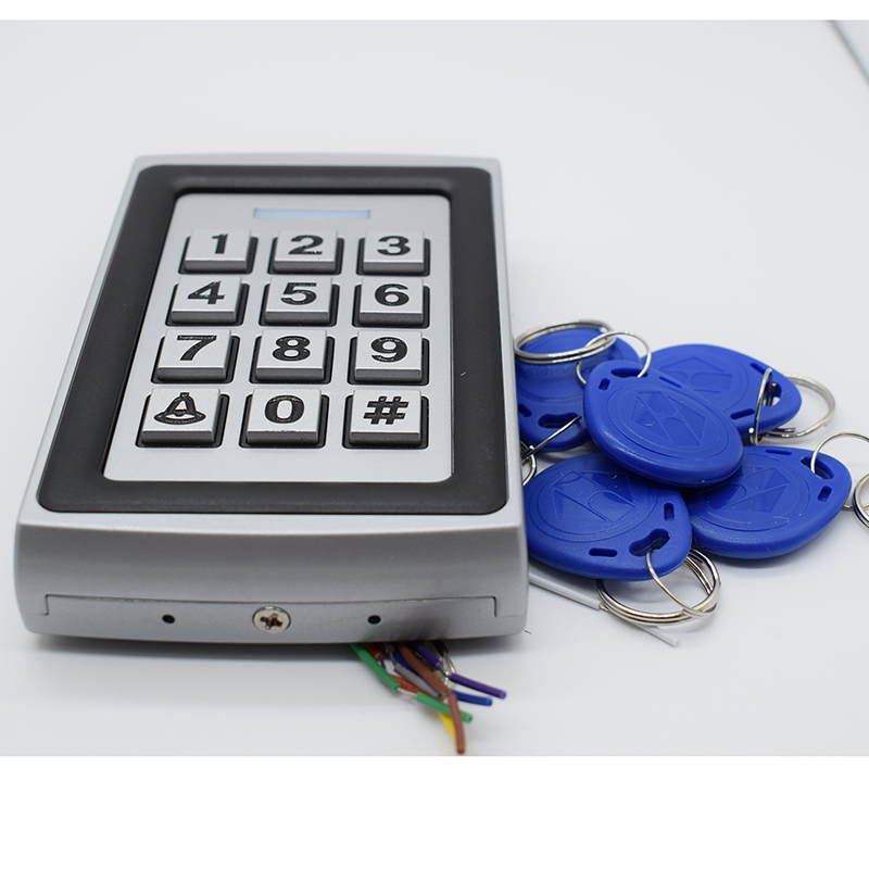 DC 12V 125Khz Metal Rfid Access Control Password Door Access Keypad Standalone NO NC Door Lock Access Reader Free 5 ID Keyfob diysecur lcd 125khz rfid keypad password id card reader door access controller 10 free id key tag b100