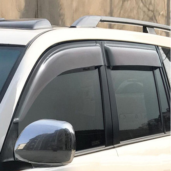 Car Styling Brand New For TOYOTA Prado 2003-2009 ABS Chrome Car Sun Rain Shield Stickers Covers Car - Styling Awnings Shelters