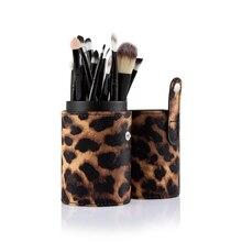 20pcs/Set Women Beauty Makeup Brush Foundation Eye Shadows Lipsticks Powder Make Up Brushes Tools With Leopard Tube Box