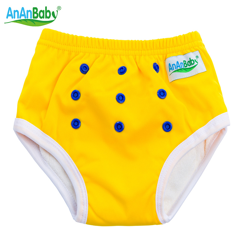 Ananbaby Waterproof Washable Soft Baby Training Pants Baby Pants PUL+Kintting Fabric Breathable Reusable Baby Cloth Diaper HA021