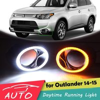 LED DRL For Mitsubishi Outlander 2014 2015 Daytime Running Light With Turn Signal