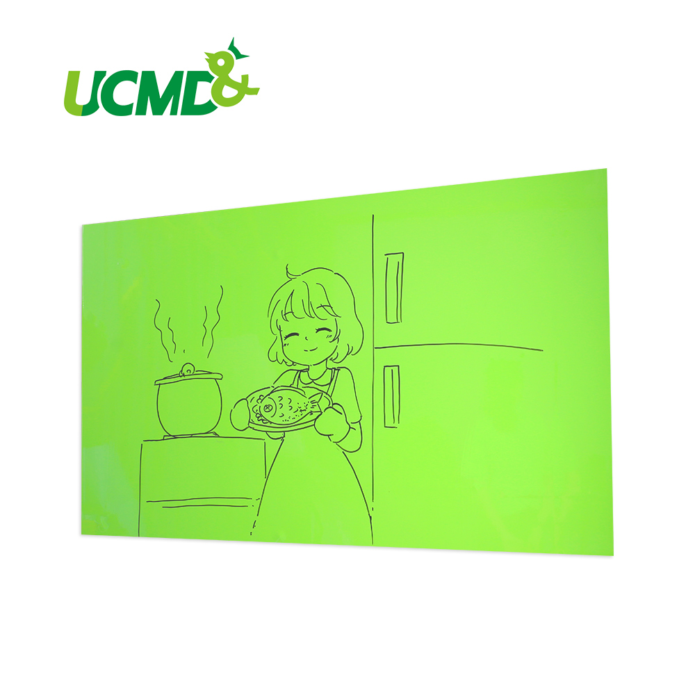 Ferrous Dry Erase Drawing Writing Whiteboard Green Board Stickers Memo Children Gift Wall Sticker 80 x 50 cm x 0.6 mm kids dry eras ferrous writing whiteboard gloss yellow dry wipe surface yellow board for wall 100 x 60 cm x 0 6 mm
