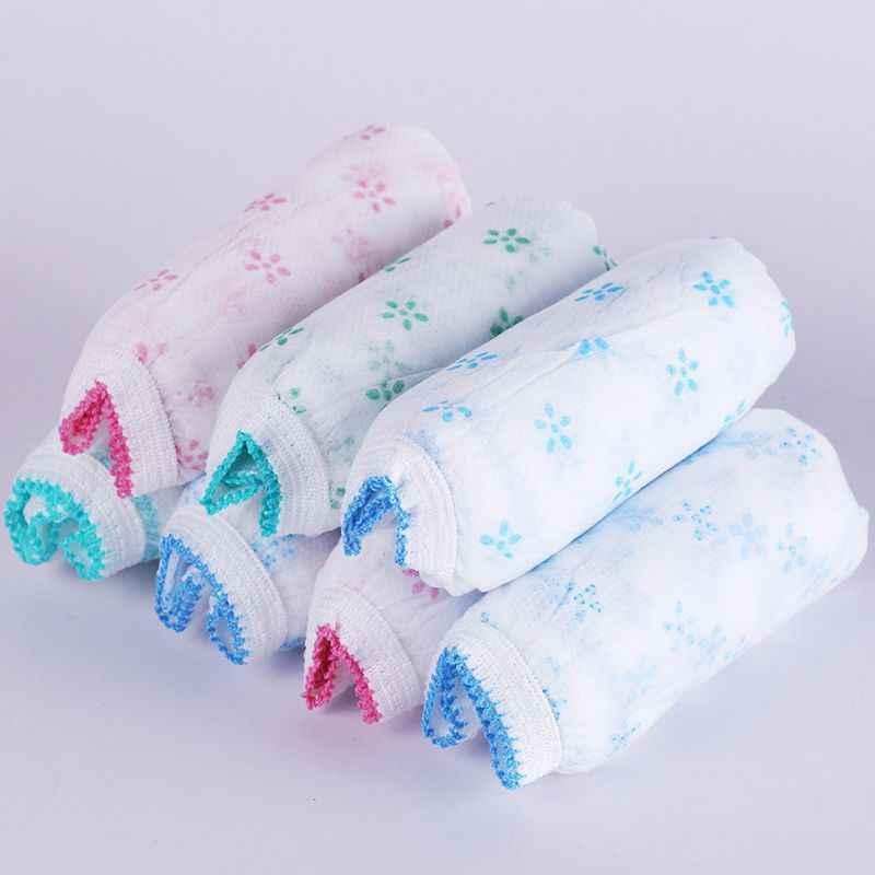 7 sztuk raz używać kobiet podróży drukowane jednorazowe majtki bielizna ciążowa majtki po porodzie papieru bawełniana bielizna