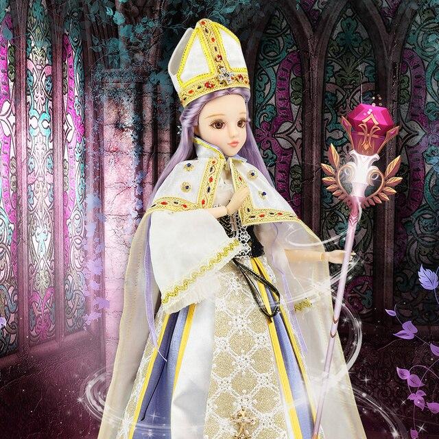 TAROT CARD Major Arcana The Hierophant joint body doll purple hair 34cm east barbi 4