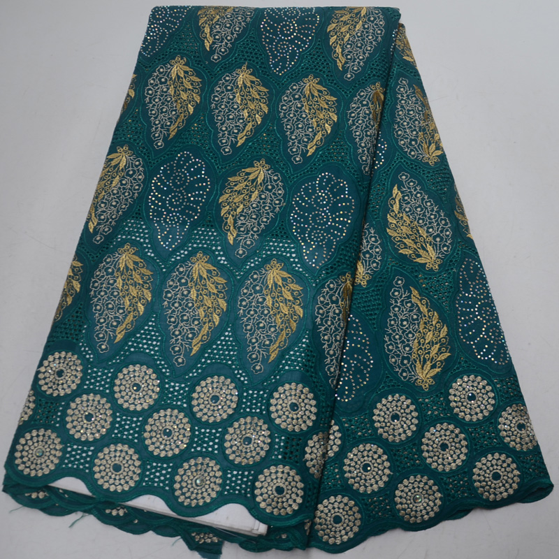 (5yards/pc) high quality teal green African Swiss voile lace fabric with stones & embroidery 2019 newest for party dress CLP316(5yards/pc) high quality teal green African Swiss voile lace fabric with stones & embroidery 2019 newest for party dress CLP316