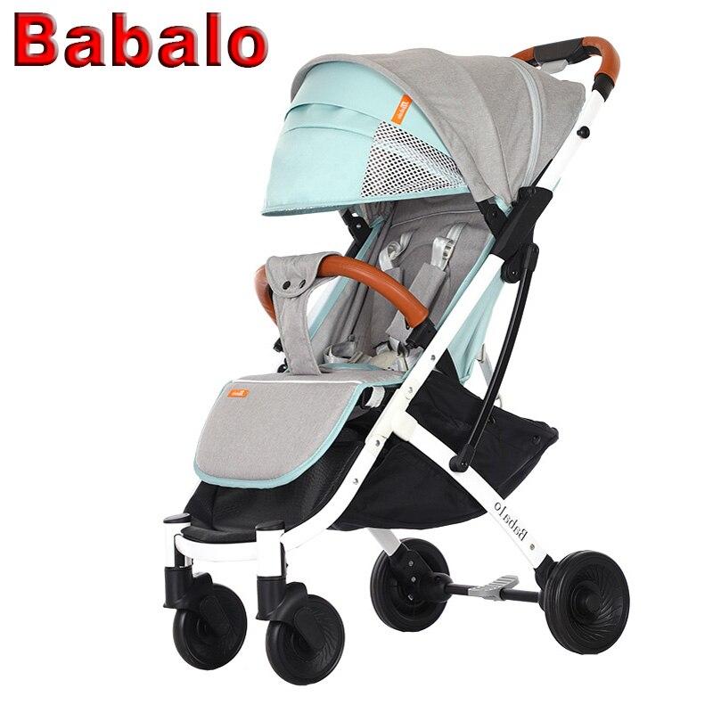 Babalo YOYA PLUS un bébé poussette lumière parapluie pliant de voiture peut s'asseoir peut mentir ultra-léger portable sur la avion bébé poussettes