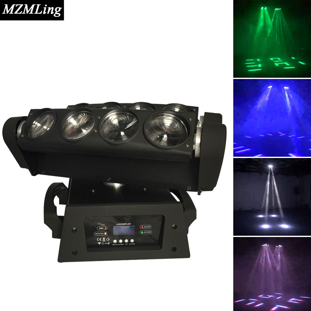 8*10w RGBW Led Spider Moving Beam Dmx512 10/21channels Ac90-240v Moving Head Light Professional Stage & Dj/Stage Lighting Effect  2pcs 8 10w rgbw dj led spider beam moving head light 100 240v dmx stage lighting effect music disco show