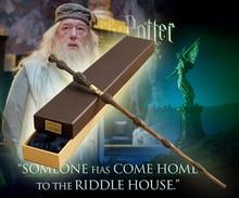 Оригинальная версия качество Металл Core Deluxe COS Альбус Дамблдор Волшебная палочка из волшебной палочки с подарочной коробке пакет Гарри Поттер