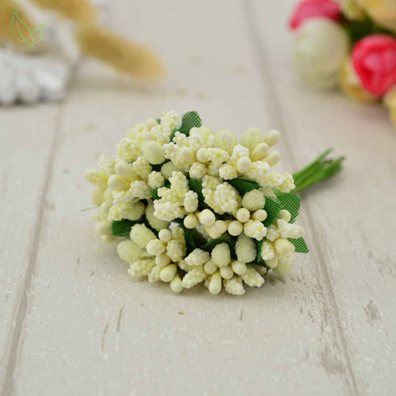12 pcs Stamen Sugar Handmade Artificial Flowers For Gift Box Scrap Booking 2