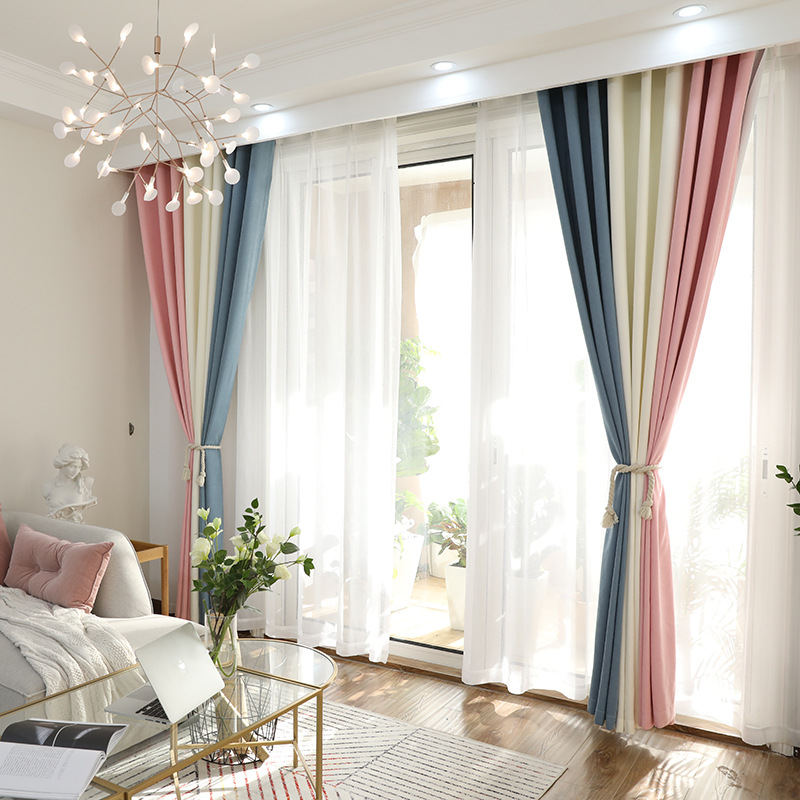 US $28.56 41% OFF|Color window curtains living room modern household items  polyester height blackout curtains-in Curtains from Home & Garden on ...