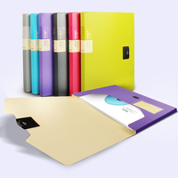 1pc A4 Box Storage Filing Box Organizer File With Buckle 28mm Spine 300 Sheet Paper Holder PP Document Box Various Colours