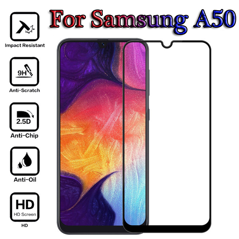 A50 Full Cover Glue Protective <font><b>Glass</b></font> for <font><b>Samsung</b></font> Galaxy A50 Tempered <font><b>Glass</b></font> Screen Protector Toughened Film For Galaxy <font><b>A</b></font> <font><b>50</b></font> A50 image