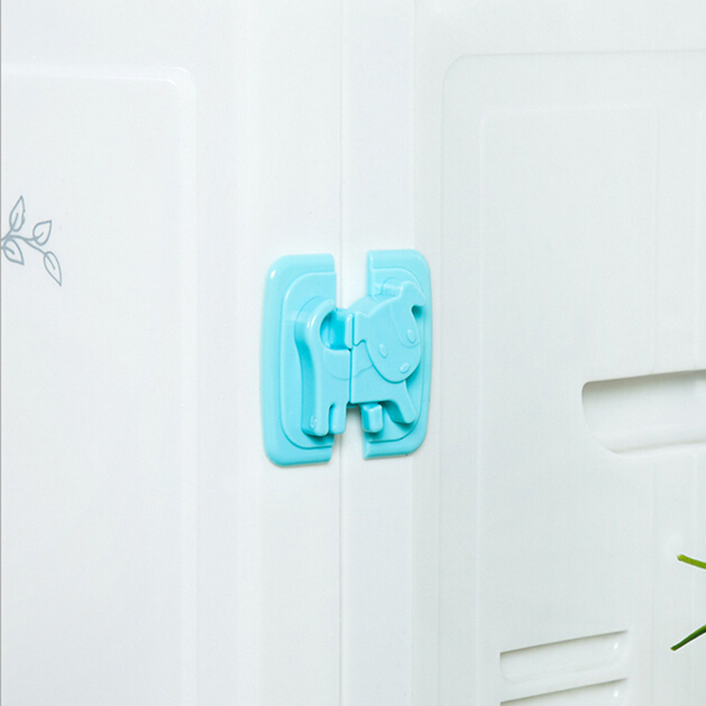 Cute Dog Safe Refrigerator Lock Children Locks Drawer Security Baby Children Protection Plastic Cabinet Lock For Child