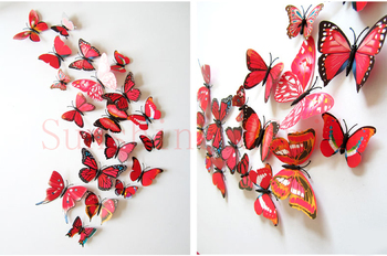 15 Colors 12pcs/lot Butterfly 3D  1