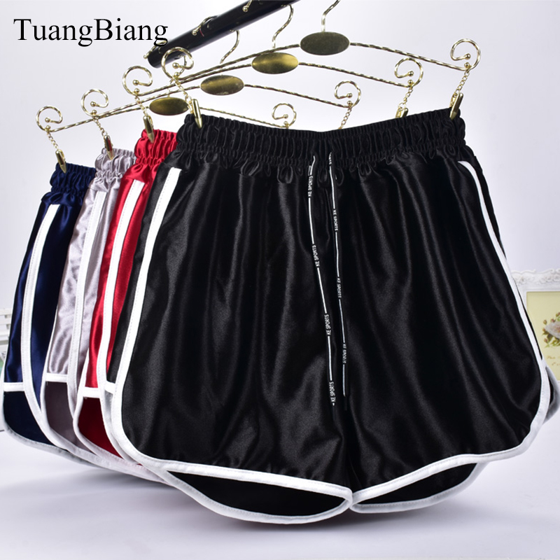 Jogger Striped Sport workout   shorts   Ladies Loose Lace up Womens Elastic Waist   Shorts   Summer Spring Patchwork Gym Athletic   Shorts