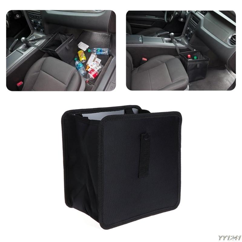 Oxford Cloth Car Waste Basket Leak Proof Trash Can Holder Litter Bin Storage Bag Organizer Car Back Rear Trunk Stowing Tidying-Y