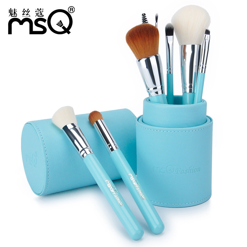 New Arrival Makeup Brushes professional Cosmetics brush Set 8pcs High Quality top Synthetic Hair With 4color Cylinder brush set цена