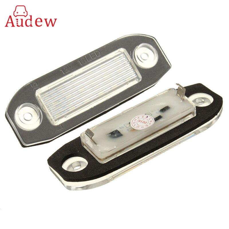 2 Pcs 18 LED Plaque D'immatriculation Numéro De La Lumière Lampe Pour Volvo S40 S60 S80 V50 XC60 XC70 XC90 V50 E-marqué Blanc