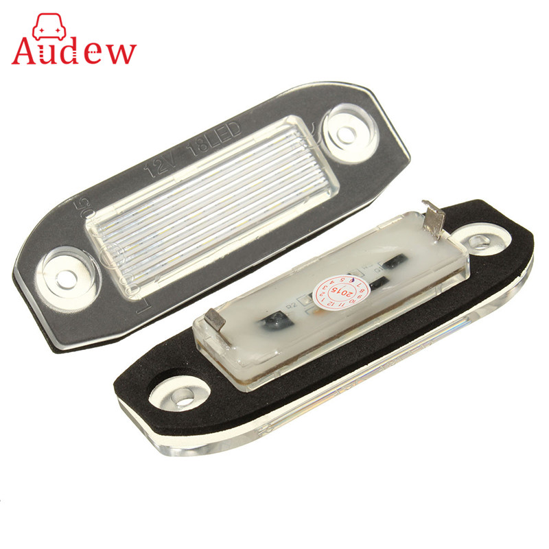 2шт 18 LED номерного знака свет номер лампа для Вольво S40 S60 на S80 V50 с ХС60 ХС70 ХС90 V50 или e-отмечены белым