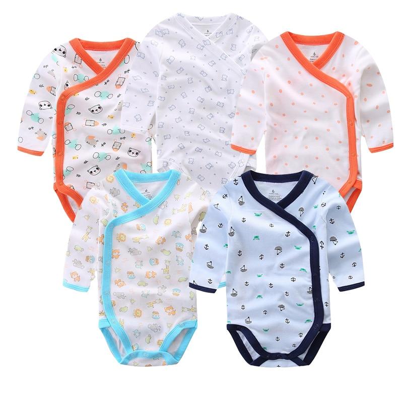 Улыбающийся малыш 5 шт./лот одежда с длинным рукавом; Детский комбинезончик из мягкого хлопка, модная одежда для детей, детская одежда с принтом в виде Одежда для новорожденных мальчиков и девочек 2