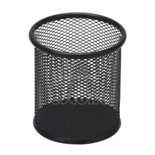 Black Metal Stand Mesh Style Pen Pencil Ruler Holder Desk Organizer Storage Office accessories D14