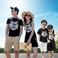 Семьи соответствующие наряды мать / мама и дочь платья семья одежда отец и сын футболка одежда семья платье CH55