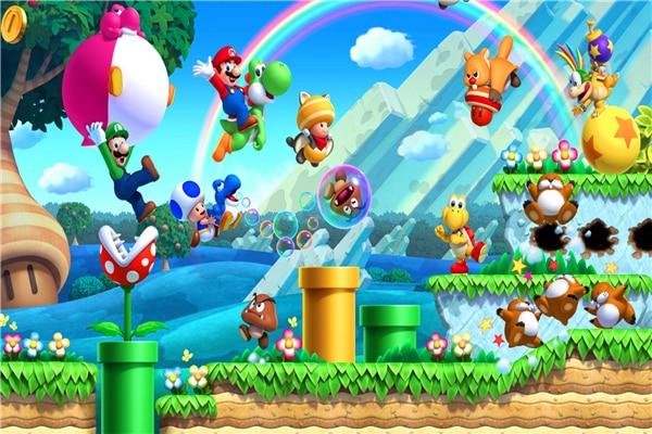 US $4.79 20% OFF|Benutzerdefinierte Leinwand Kunst Super Mario Poster Super  Mario Wandaufkleber Mario Bros Tapete Video Spiel Wandbild Dekoration #490  ...
