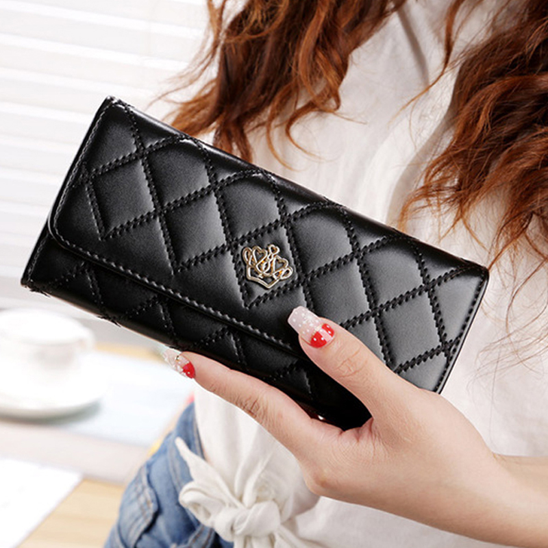 Fashion Design Women Long Wallet PU Leather Female Portable Purse Big Capacity Card Holders Ladies Clutch Money Bag Phone Pocket in Wallets from Luggage Bags