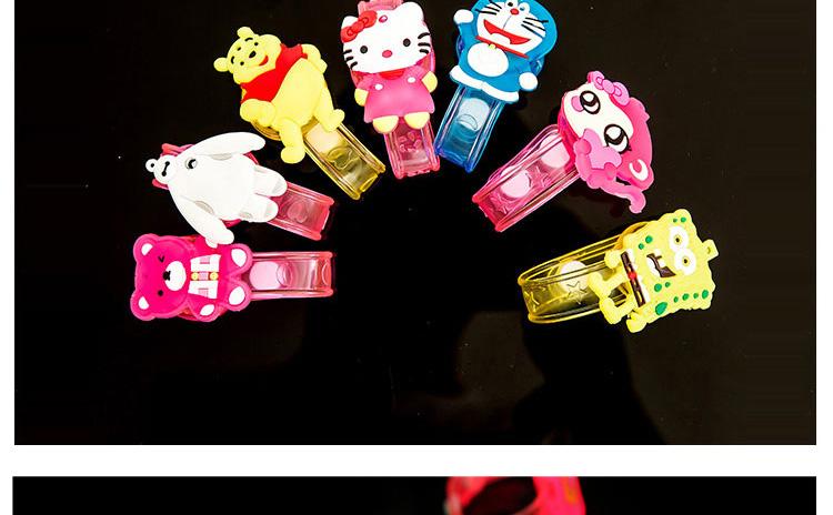 1pcs Cartoon LED Night Light Party Xmas Decoration Colorful LED Watch Toy Boys Girls Flash Wrist Band Glow Luminous Bracelets (8)