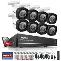 SANNCE 8CH 1080P CCTV System 720P Security Camera Waterproof IR Night Vison Home Security Camera Surveillance