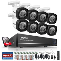 SANNCE 8CH 1080P CCTV System 720P Security Camera Waterproof IR Night Vison Home Security Camera Surveillance