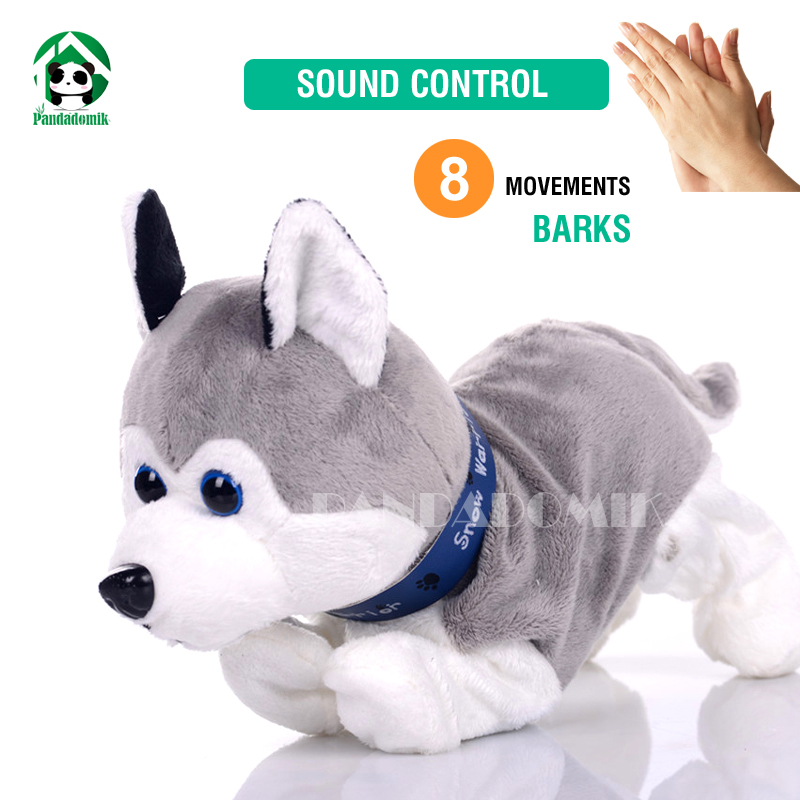 Electronic Pet Dog Interactive Toy Sound Control Dog Dolls Soft Toys Baby Toy Plush Dolls Dog Toys For Children
