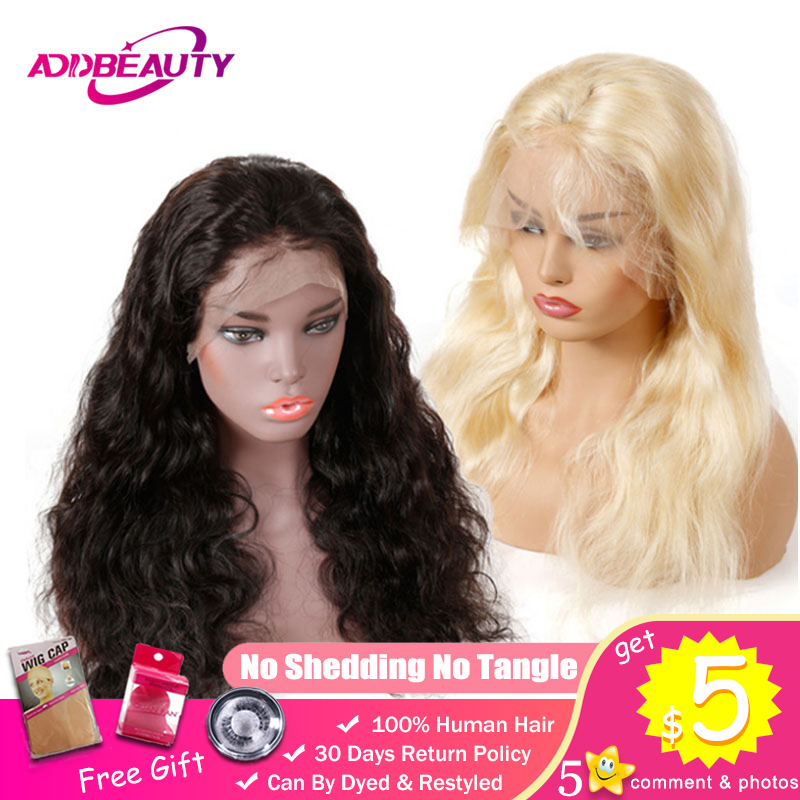 13x6 Lace Front Human Hair Wigs 130% 150% 180% Density Pre Plucked Body Wave Brazilian Remy Natural Color 613 Blonde 1B Black-in Human Hair Lace Wigs from Hair Extensions & Wigs    1