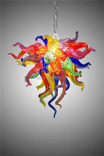Free Shipping Elegant Chandelier Colorful Art Glass Chihuly