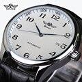 2016 Ganador Del Reloj de Los Hombres Correa de Cuero Relojes Hombre Etiquetas de Marca Relojes Mecánicos de La Moda Casual Hombres Reloj de pulsera Hombres Horloge