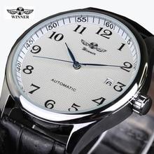 2016 Relojes Hombre Marque Tags Gagnant Montre Hommes Bracelet En Cuir Montres Mécaniques De Mode Casual Hommes Montre-Bracelet des Hommes Horloge