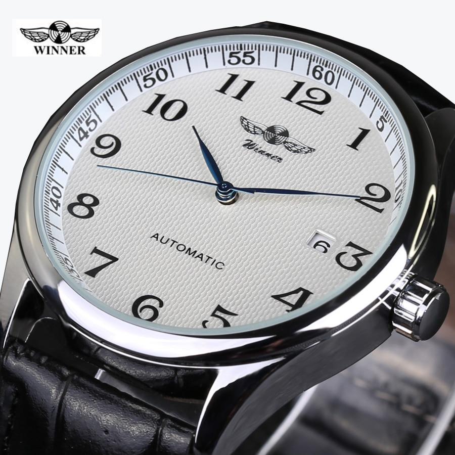 2016 Uhren Hombre Marke Tags Gewinner Uhrmänner Lederband Mechanische Uhren Mode Lässig Männer Armbanduhr Männer Horloge QualitäTswaren