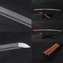 Japanese KATANA Full Tang Knife Battle Ready Folded Steel Handmade Sword  Practical Sharp Blade Knife Can Cut Tree