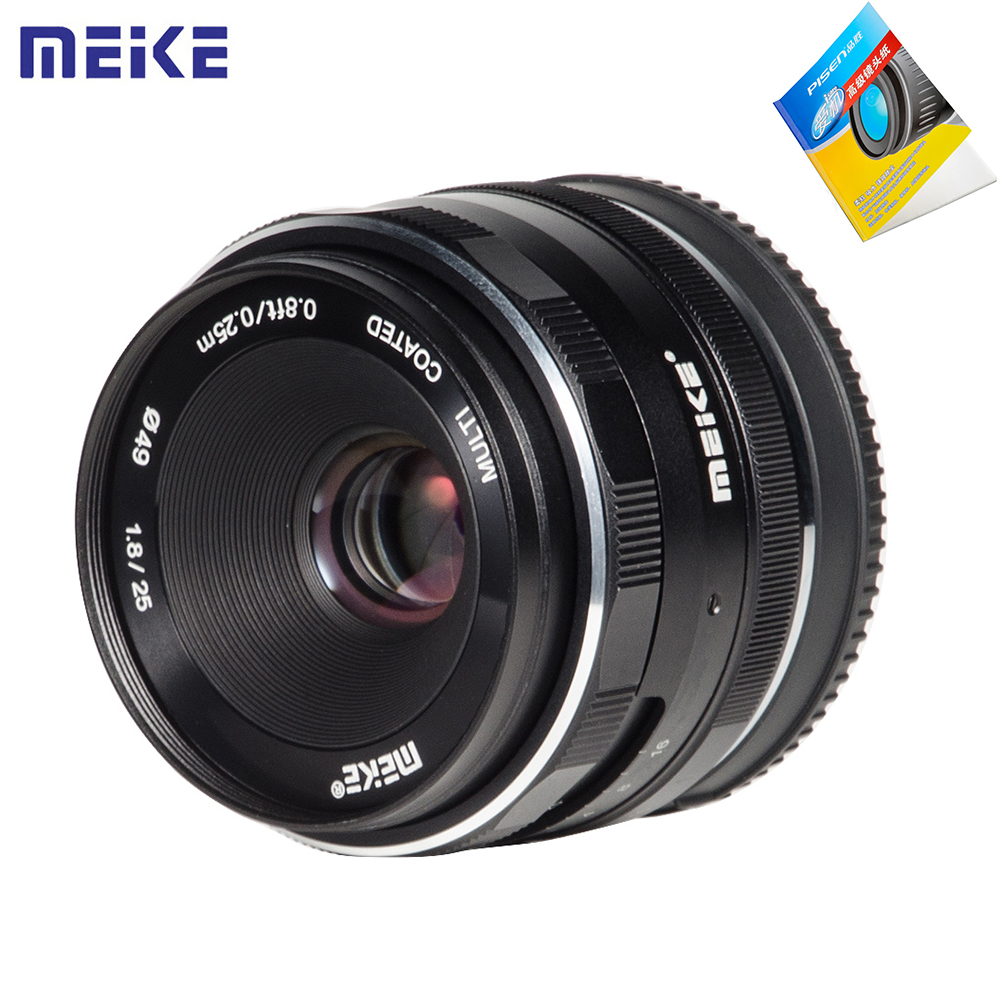Meike 25mm F1.8 Large Aperture Wide Angle Lens Manual Focus Lens for Sony E Mount / for Fuji Camera A6500 A7 A7II A7R X-T1 X-T2 t2 red copper d150mm x 25mm 2pcs