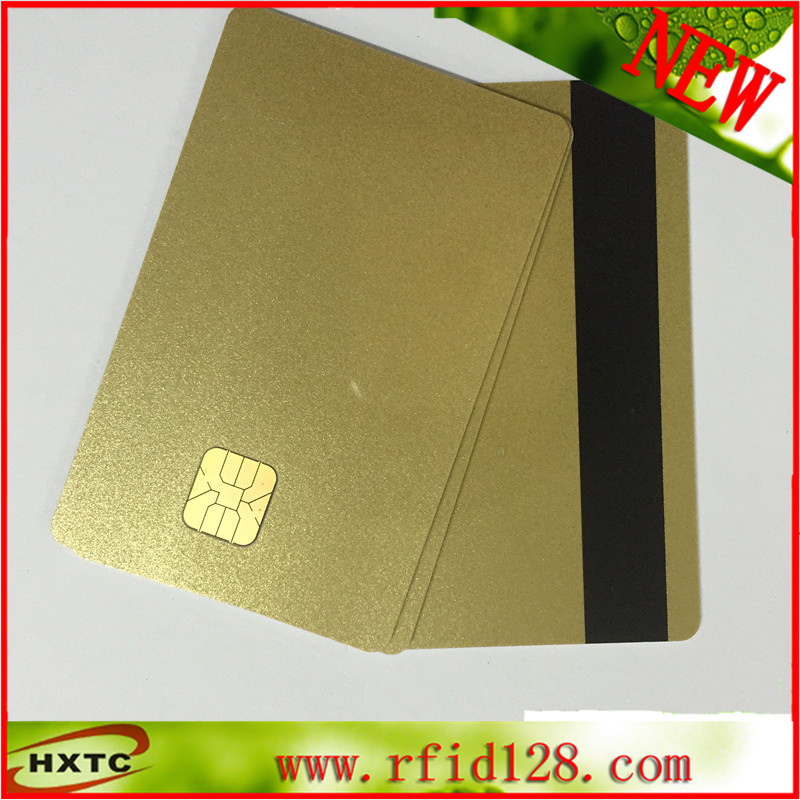 Free Shipping (50PCS/Lot) Contact Sle4428 Chip Gold Color Card /Purchase Card with Magnetic Stripe 1K Memory 20pcs lot contact sle4428 chip gold card with magnetic stripe pvc blank smart card purchase card 1k memory free shipping