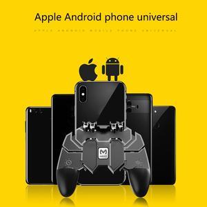 Image 4 - Mobil PUBG Joystick denetleyicisi AK66 altı parmak All In One Gamepad PUBG için IOS Android L1 R1 tetik çalışma gamepad